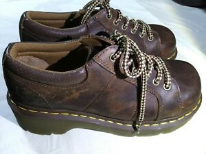 Dr Martens Boot/Shoe Sz. 8 US Women's Work Boots Brown Leather Melissa Platforms
