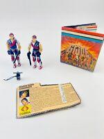 1985 Vintage GI Joe - Tomax & Xamot Crimson Guard Commanders Complete W/FileCard