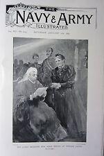 1898 BOER WAR ERA PRINT ~ QUEEN RECEIVING MISS AGNES WESTON AT WINDSOR CASTLE