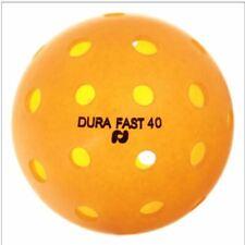 (Dura Fast 40) Outdoor Pickleball Balls -6 pack - Orange - HALF DOZEN - Orange
