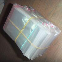 200pcs Resealable Poly Bags Transparent Opp Bag Plastic Bags Self Adhesive Seal