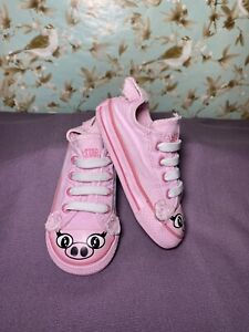 """Size 7 BABY Shoes CONVERSE """"All Star"""" Pink Canvas Pig"""