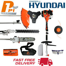 Garden Hedge Trimmer Petrol Strimmer Chainsaw Hyundai Engine 5 in 1 - Multi Tool