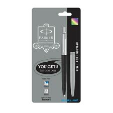 Parker Jotter Standard CT Ball Point Pen LG Black & Grey body (Blue Refill)