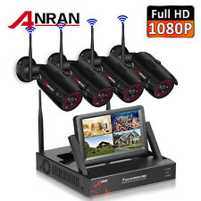 4Ch 1080P Home Security Camera System Wireless Cctv WiFi Outdoor Hd Night Vision