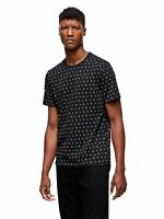 TRUE RELIGION Men's Black Crew Neck Allover Monogram T-shirt S RRP69 BNWT