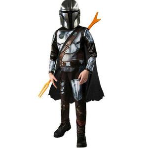 Star Wars The Mandalorian Cosplay Costume Kids Halloween Outfit Jumpsuit + Cloak