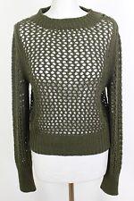 ISABEL MARANT ÉTOILE Green Chunky Knit Wool JUMPER - Size FR 38 - UK 10 - IT 42