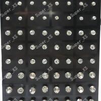 72pcs stainless steel Rhinestone Stud Earrings wholesale jewelry lots