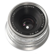 25mm F/1.8 Manual Focus Fixed Lens for Panasonic Olympus Micro M4/3 Mount Silver