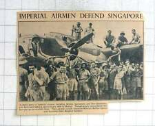 1942 Brits Aussies Kiwis Defence Singapore, Beaufort Bombers