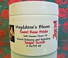 Magdalene's Bloom Rose Sugar Scrub Petals Hydrating Passion Flower Oil 2 oz