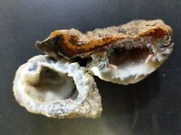 D9 2 Geodes Small Rocks, 1 Polished Side