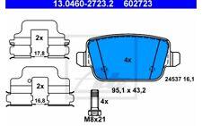 ATE Juego de pastillas freno Trasero para FORD FOCUS MONDEO S-MAX 13.0460-2723.2