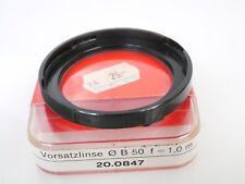 Zeiss Ikon Voigtländer B 50 bayoneta 50 nahlinse close up f = 1m for icarex Mint