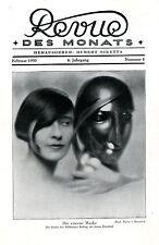 Belling-Eisenerne Maske Frontpage- Künstler-Fotographie ( M.v.Bucovich ) c.1930