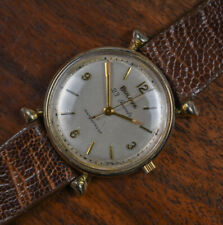 """Vintage BULOVA 23 Jewels 1960 """"PRESIDENT"""" Fancy Lugs Manual Wind Watch Leather"""
