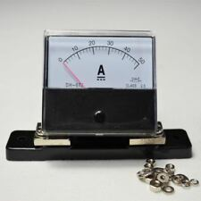 DC 0-50A HQ Current Ammeter + Shunt Resistor New Analog Amp Panel Meter