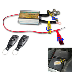 2PCS Wireless Remote Car Battery Isolator Disconnect Cut Off Power Kill Switch