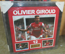"""Olivier Giroud unsigned Arsenal FC 12""""x18"""" photo framed with plaque"""