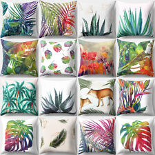 AL_ Multicolor Tropical Leaves Print Sofa Bed Throw Pillow Case Cushion Cover No