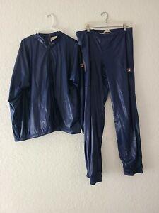 VTG Vintage Rare Fila Tracksuit Blue Mens Size 42 Jacket Pants Set