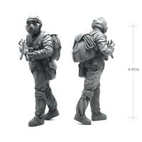 1/35 Resin Figures Model Biochemical Weapon Soldier Mould Set Collectable  New