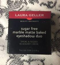 Laura Geller Matte Eyeshadow Duo SMOKE & SUGAR / BLUEBERRY CREME - New & Unused