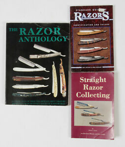 THE RAZOR ANTHOLOGY and 2 other books on straight razors CP