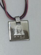 Ryry Firenze Mother Mary Madonna Silvertone Pendant 24380 Stainless Steel