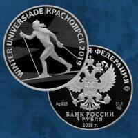 Russland - Winter Universiade Krasnoyarsk 2019 - 3 Rubel 2018 PP Silber