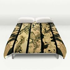 DUVET COVER - FULL Size ~ Quadriptych ~ based on Exclusive Solar Etched Design