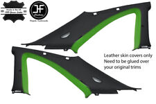 BLACK & GREEN 2X B C PILLAR LEATHER COVER FITS NISSAN SKYLINE GTS GTR R33 93-98