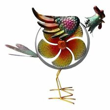 Metal Garden Wind Spinner , Large Rooster Cockerel  Garden Ornament . H 34 cm