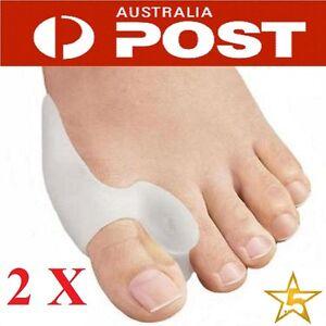 Silicone Gel Bunion Protector Toe Straightener Separator Alignment Pain Relief