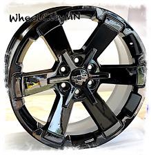 22 Inch Gloss Black Chevy Rally Wheels Oe Replica Silverado Tahoe Ltz 6x55 24