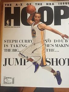 Stephen Curry Signed Autographed Hoop Magazine Golden State Warriors MVP JSA