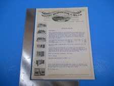 Antique 1918 Western Refrigerator & MFG Co. Letterhead and Letter M3374