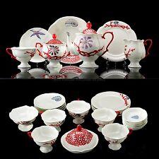 RUSSIAN Imperial Lomonosov Porcelain Tea set Treasures from the Sea Coral 6/30
