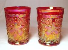 NEW Mosser Glass Marigold Carnival Glass Maple Leaf Tumblers - Set of Two (2)