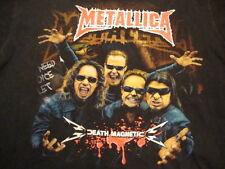 Metallica Death Magnetic Concert Tour Hard Rock Metal Music Black T Shirt L