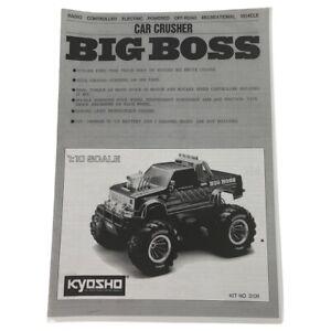 Vintage Rare Kyosho Car Crusher Big Boss Manual OZRC ML