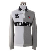 Tommy Hilfiger Men's Long Sleeve Logo Custom Fit Rugby Polo Shirt - Free $0 Ship
