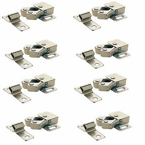 8 x ROLLER CATCH CUPBOARD CABINET DOOR  LATCH TWIN DOUBLE CATCHES CARAVAN BOAT