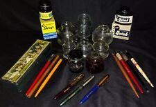 Vintage Ink Bottles Fountain Pens-Eagle Case