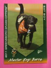 2011 MultiAd Sports, Greensboro Grasshoppers. Bat Boy - MASTER YOGI BERRA