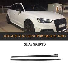 Side Skirts Body Kit Carbon Fiber For Audi A3 S-LINE S3 Sportback 4-Door 14-17