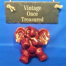 Fosters / Kernewek Pottery Elephant Money Box - Vintage Brown Dripware VGC