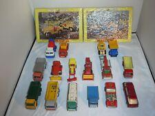 Vintage Lot Lesney Matchbox Corgi Junior Die Cast Car  Puzzle 16 cars 2 puzzles