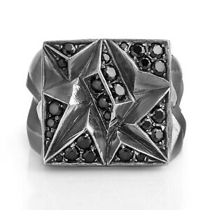 Mens Silver Signet Ring Unique Man Gemstone Ring Jewelry For Mens Oxidized Gift